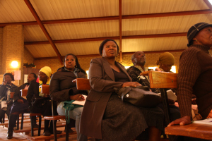 Community members gather in St. Charles Lwanga Catholic Church in Orange Farm (photograph by Mfuneko Toyana)
